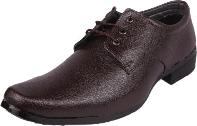 somugi Brown Formal Laceup Shoes Lace Up For Men Brown