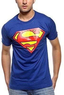 TNX Superhero Men's Round Neck Blue T-Shirt