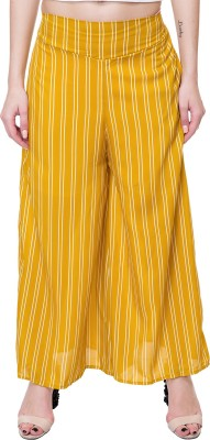 Kannan Flared Women Yellow Trousers Kannan Palazzos