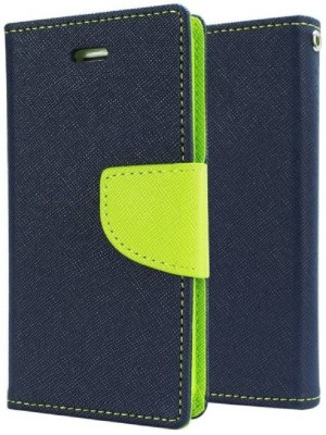 BUCKEINSTORE Front & Back Case for Buckeinstore Flip Cover For Samsung Galaxy Core I8262(Green, Artificial Leather)