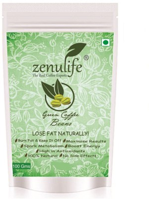 zenulife Organic Green Coffee Beans For Weight Loss (Unroasted Coffee Beans) - 100 GM Instant Coffee 100 g(Green Coffee, Unflavoured Flavoured)