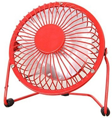 BUY GENUINE Best Buy Portable rechargeable 360 Degree rotatable clip type usb/table/ceiling Fresh Air Cooler With Fragrance Usb Mini fan/cooler with metalic body 4 Blade Table Fan(RED)  available at flipkart for Rs.340