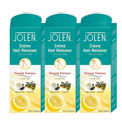 Jolen Hair Remover Lemon (Pack of 3) Cream (150 ml) Cream(150 g) Flipkart