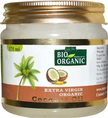 Indus Valley Natural & Organic Extra Virgin Coconut Oil - 175 ml / Coconut oil for Skin, Hair and Body massage(175 ml)  available at flipkart for Rs.179