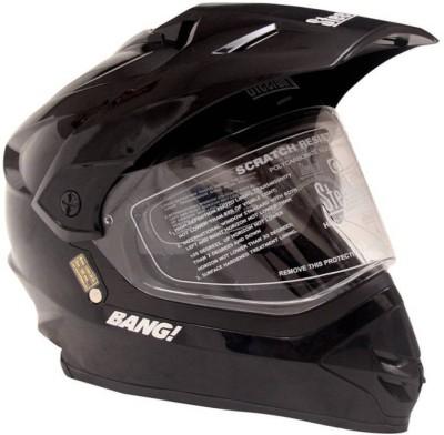 Steelbird SteelbirdMotorcross Bang -42 Helmet Motorbike Helmet(Black)