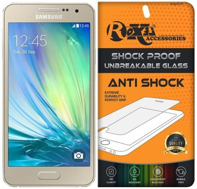 Roxel Screen Guard for Samsung Galaxy A3 (Champagne Gold, 16 GB)(Pack of 1)