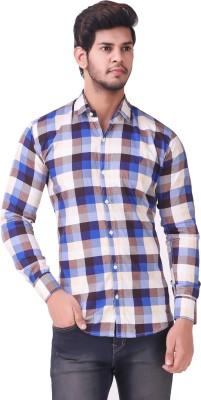 Wolgun Men's Checkered Casual Shirt