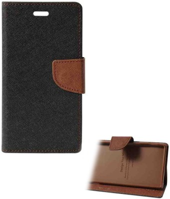 Heinibeg Flip Cover for Vivo V3(Brown, Artificial Leather)