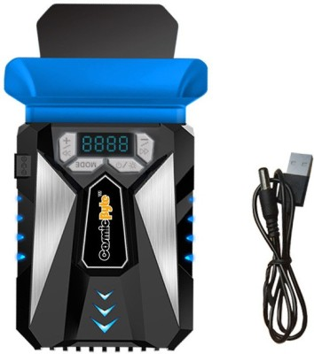 Cosmic Byte HailStorm Laptop Vacuum Cooler with Temperature Display and Adjustable Fan Speed Cooling Pad(Black&Blue)