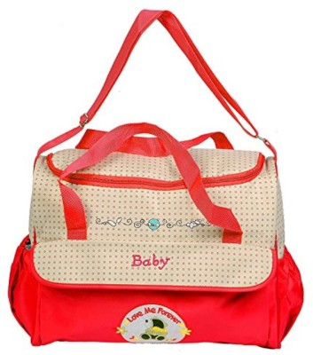 Guru Kripa Baby Products ™ Presents New Born Baby Multypurpose Mother Bag With Holder Diapper Changing Multi Comprtment For Baby Care And Maternity Handbag Diaper Nappy Mama Shoulder Bag Diaper Bag For Baby Multipurpose Waterproof Mother Bag Diaper Bag with Diaper Changing Mat (Red) Baby Mother Bag(