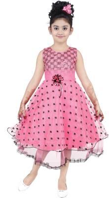 SKDC Girls Midi/Knee Length Party Dress