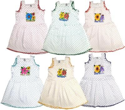 cad79515c7e 46% OFF on mkb Girls Midi Knee Length Casual Dress(Multicolor ...