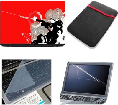 Gallery 83 ® metal gear solid wallpaper laptop skin combo kit 4 in 1 with sleeve, key guard & screen protector Combo Set(multi)
