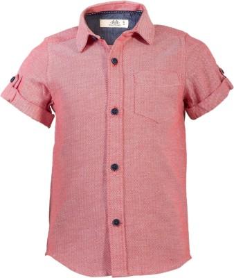 WYW Boys Self Design Casual Spread Shirt