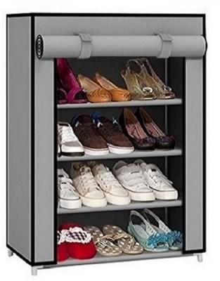 CMerchants CABINET GREY Steel Shoe Stand(Grey, 4 Shelves)