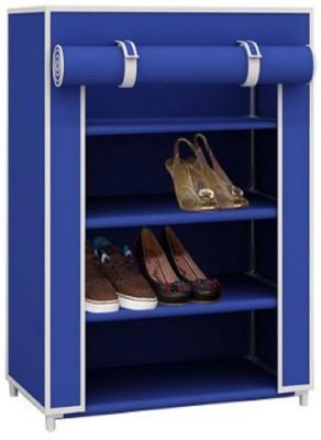 CMerchants BROWN Cabinet-4L Carbon Steel Collapsible Shoe Stand(Brown, 4 Shelves)
