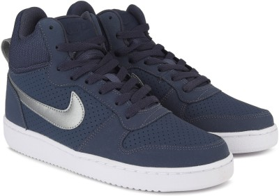 Nike COURT BOROUGH MID Sneakers For Men(Blue) 1