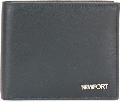 NEWPORT Men Blue Genuine Leather Wallet(4 Card Slots)