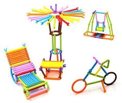 Pepperonz Colourful Plastic Building Stick Educational Building Blocks Toys Multicolor Pepperonz Blocks   Building Sets
