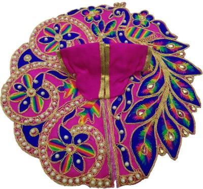 Divya Gallery Laddu Gopal Poshak 4 no Laddu Gopal Dress 4 no Kanha ji dress Dress(Cotton)