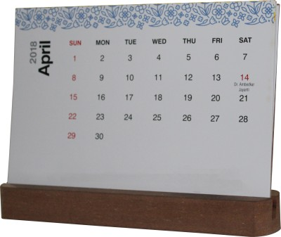 Royal Decor 1 Compartments MDF Calendar Holder - cum - Photo Frame(Brown)