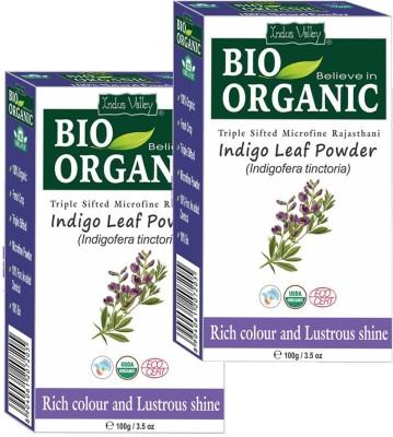 Indus Valley Organic Indigo Leaf Hair Powder (Set of 2 - 100g each) Hair Color(Indigo)  available at flipkart for Rs.369