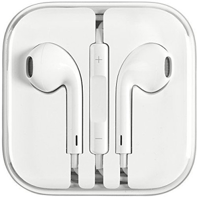 TopamTop Phone 4/ 4S/ 5/ 5S/ 6/ 6S EarPods Earphone With Mic and Sound Control Headset with Mic (White, In the Ear) Wired Headset with Mic(White, In the Ear)