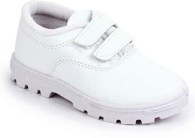 LIBERTY Boys Velcro Casual Boots White LIBERTY School Shoes