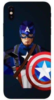 Crystal Coat Captain America Printed Back Skin/Sticker Back Only - Blue Matte (Only Sticker Not Cover)Ccms_028 Apple iPhone X Mobile Skin(Blue)