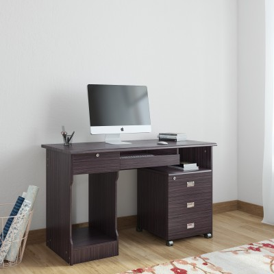 Woodness Geneva Engineered Wood Computer Desk(Modular, Finish Color - Wenge)