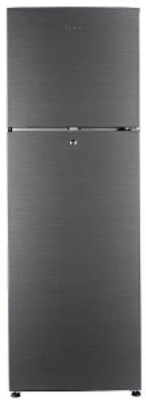 Haier HRF-2783BS-E 258 L 3 Star Frost Free Double Door Top Mount Refrigerator, Brushline Silver