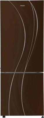 Haier HRB-3404PCGE 320 L 3 Star Frost Free Double Door Bottom Mount Refrigerator, Brown