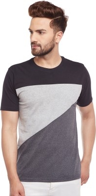The Dry State Solid Men's Round Neck Multicolor T-Shirt
