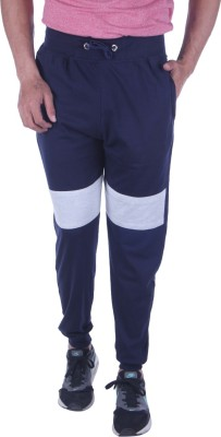 Oh Yes Solid Men's Dark Blue Track Pants