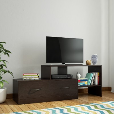 Home Full Prince Engineered Wood TV Entertainment Unit(Finish Color - Wenge)