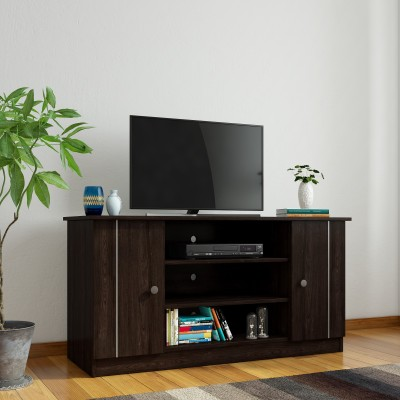 Furn Central Baxter Engineered Wood TV Entertainment Unit(Finish Color - Satin Black / Clay)