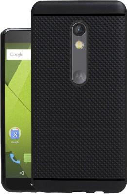 Jkobi Back Cover for Motorola Moto X Play(Black, Dual Protection, Rubber)