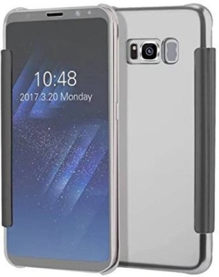 TGK Flip Cover for Samsung Galaxy C9 Pro(Silver, Shock Proof)