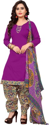 Saara Polycotton Solid, Printed Salwar Suit Dupatta Material(Un-stitched)