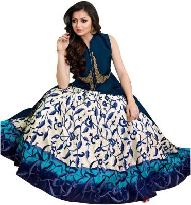 RANGRASIYA CORPORATION Art Silk Printed Semi-stitched Salwar Suit Dupatta Material