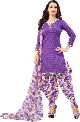 Saara Polycotton Solid, Floral Print, Printed Salwar Suit Dupatta Material(Un-stitched)