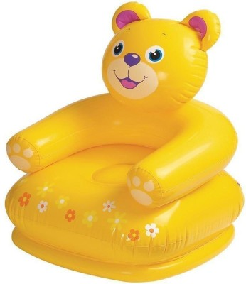 Zombi Plastic Inflatable Chair(Finish Color - Yellow)