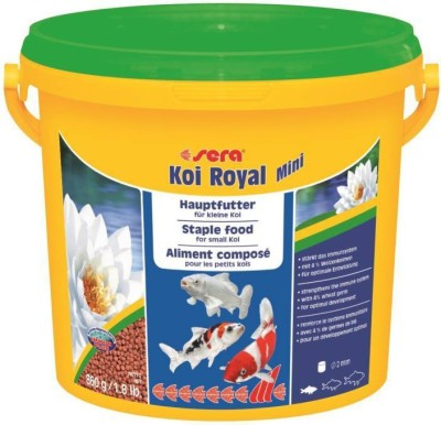 ROYAL PET Sera Koi Royal Medium 900g/2 lb (Koi Pond Fish Food   MADE IN GERMANY)   Staple Food For Small Koi   Strengthens The Immune System With 4% Wheat Germ For Optimal Development   900 g Dry Fish Food