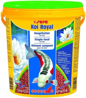 ROYAL PET Sera Koi Royal Medium 3.95kg/8.7lb (Koi Pond Fish Food   MADE IN GERMANY)   Staple Food For Small Koi   Strengthens The Immune System With 4% Wheat Germ For Optimal Development   3.95 kg Dry Fish Food