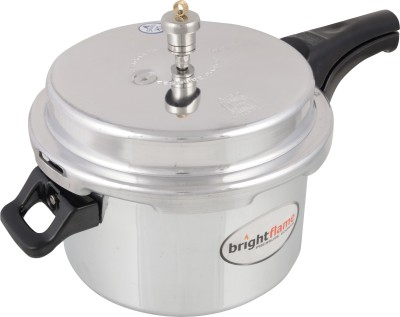 Brightflame Popular Outer lid Non induction 5 L Pressure Cooker(Aluminium)