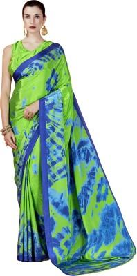 Ratnavati Printed Bollywood Crepe, Silk Saree(Green, Blue)
