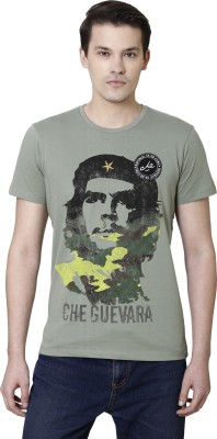 Che Guevara By Free Authority Graphic Print Men Round or Crew Grey T-Shirt