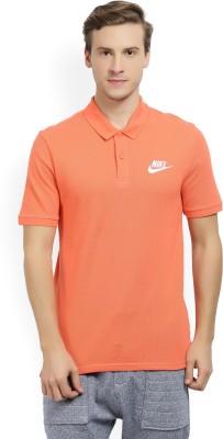 Shirt Orange Nike T Solid Men's Polo On Neck Buy Flipkart dqXZwX0