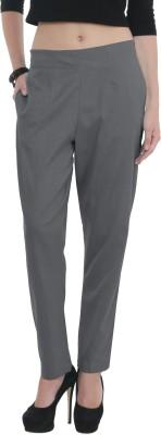 Q-Rious Regular Fit Women Grey Trousers