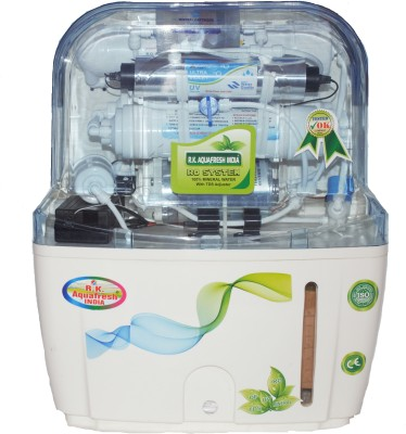 Rk Aquafresh India 33909772488 12 L RO + UV + UF + TDS Water Purifier(White)
